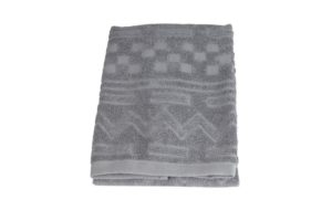 Махровое полотенце Геометрия серый