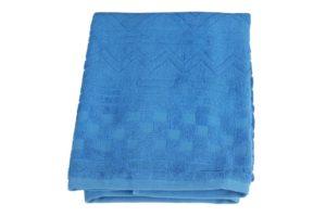 Махровое полотенце Геометрия синий