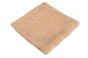 Махровое полотенце Горох бежевый