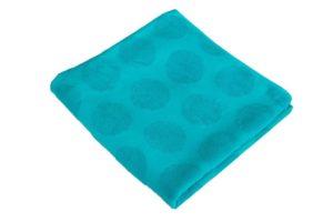 Махровое полотенце Горох бирюзовый
