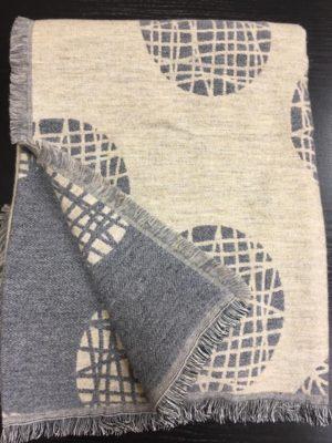 Плед A.Salgado Mina Beige/Grey шерсть/хлопок 140*200 см