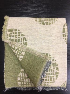 Плед A.Salgado Mina Green/Grey шерсть/хлопок 140*200 см