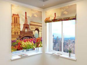 Римские фотошторы Парижские Красоты