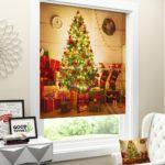 Римская штора Новогодняя коллекция 139