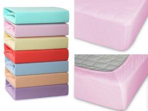 Простыня Cleo трикотажная на резинке 120*200*25  светло-розовый