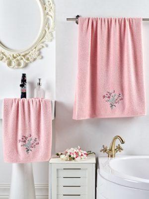 Комплект махровых полотенец VIOLIN Розовый