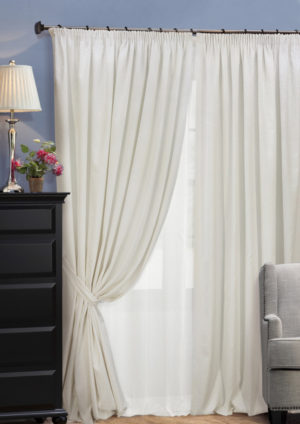 Комплект штор на тесьме Domino 2 шторы 200x270см тюль 450х270см  2 подхвата 123726610