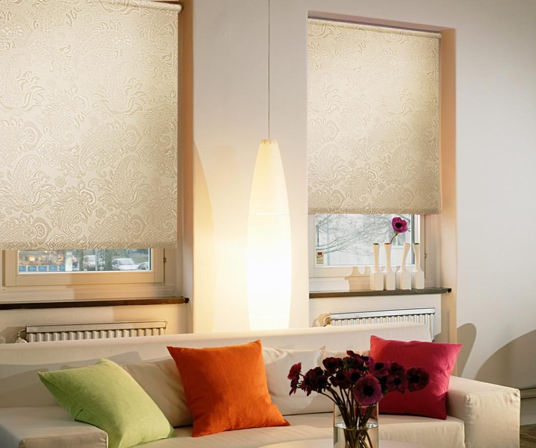 Рулонные шторы фото в интерьере