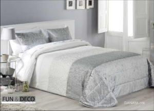 Покрывало + 2 наволочки (подушки) на кровать Antilo Danaya Gris 250*270 см