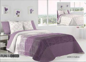 Покрывало + 2 наволочки (подушки) на кровать Antilo Meko Malva