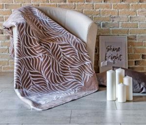 Одеяло байковое Премиум ЕР   Кофейный орнамент 150х212