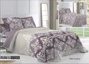 Покрывало + 2 наволочки (подушки) на кровать Antilo Win Malva