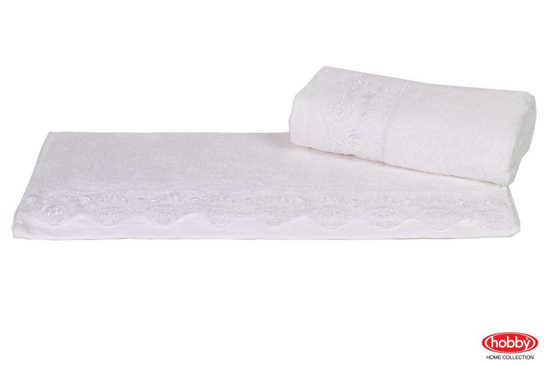 Махровое полотенце 70x140 ALMEDA белый 60% Бамбук 40% Хлопок