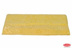 Махровое полотенце 100x150 DORA жёлтый 100% Хлопок