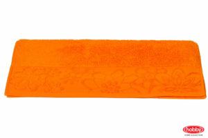 Махровое полотенце 100x150 DORA оранжевый 100% Хлопок