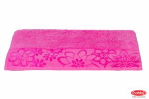 Махровое полотенце 100x150 DORA розовый 100% Хлопок
