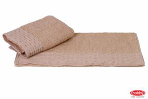 Махровое полотенце 50x90 GOFRE бежевый 100% Хлопок