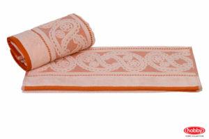 Махровое полотенце 50x90 HURREM персиковый 100% Хлопок