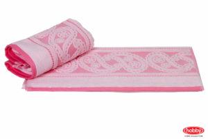 Махровое полотенце 50x90 HURREM св.розовый 100% Хлопок