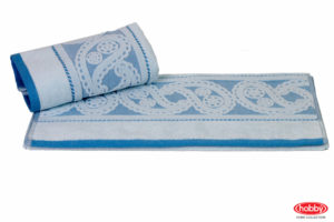 Махровое полотенце 70x140 HURREM голубой 100% Хлопок