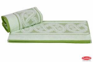 Махровое полотенце 70x140 HURREM зелёный 100% хлопок