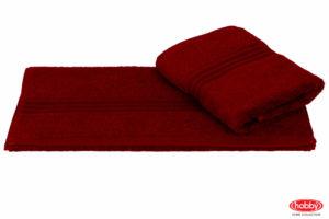 Махровое полотенце 50x90 RAINBOW бордовый 100% Хлопок