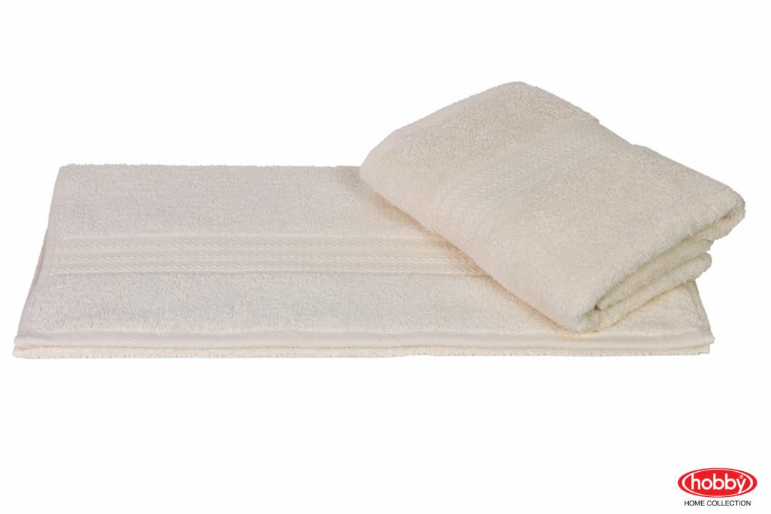 Махровое полотенце 50x90 RAINBOW кремовый 100% Хлопок