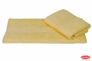 Махровое полотенце 50x90 RAINBOW св.жёлтый 100% Хлопок