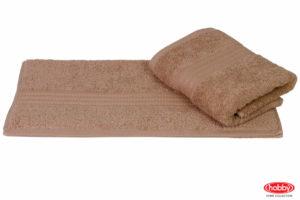 Махровое полотенце 50x90 RAINBOW кофейный 100% Хлопок