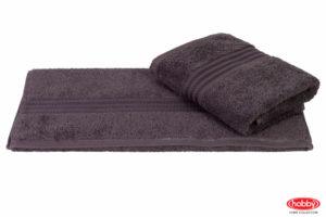 Махровое полотенце 50x90 RAINBOW т.серый 100% Хлопок