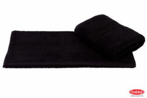 Махровое полотенце 50x90 RAINBOW чёрный 100% Хлопок