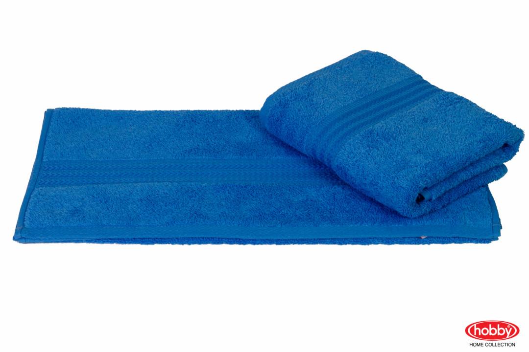 Махровое полотенце 70x140 RAINBOW голубой 100% Хлопок