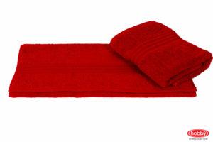 Махровое полотенце 70x140 RAINBOW красный 100% Хлопок
