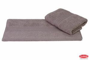 Махровое полотенце 70x140 RAINBOW серый 100% Хлопок