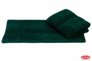 Махровое полотенце 70x140 RAINBOW т.зелёный 100% Хлопок