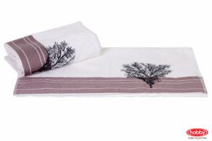 Махровое полотенце с вышивкой 50x90 INFINITY белый 100% Хлопок