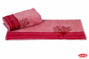 Махровое полотенце с вышивкой 50x90 INFINITY св.розовый 100% Хлопок