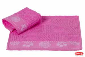 Махровое полотенце 30x50 MEYVE BAHCESI розовый 100% Хлопок