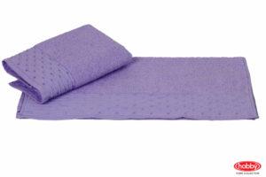 Махровое полотенце 70x140 GOFRE лиловый 100% Хлопок