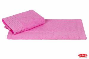 Махровое полотенце 70x140 GOFRE розовый 100% Хлопок
