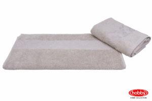 Махровое полотенце 100x150 RUZANNA бежевый 100% Хлопок