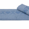 Махровое полотенце 100x150 RUZANNA голубой 100% Хлопок