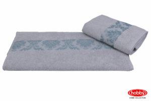 Махровое полотенце 100x150 RUZANNA св.голубой 100% Хлопок