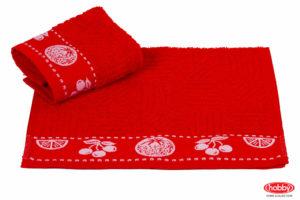 Махровое полотенце 30x30 MEYVE BAHCESI красный 100% Хлопок