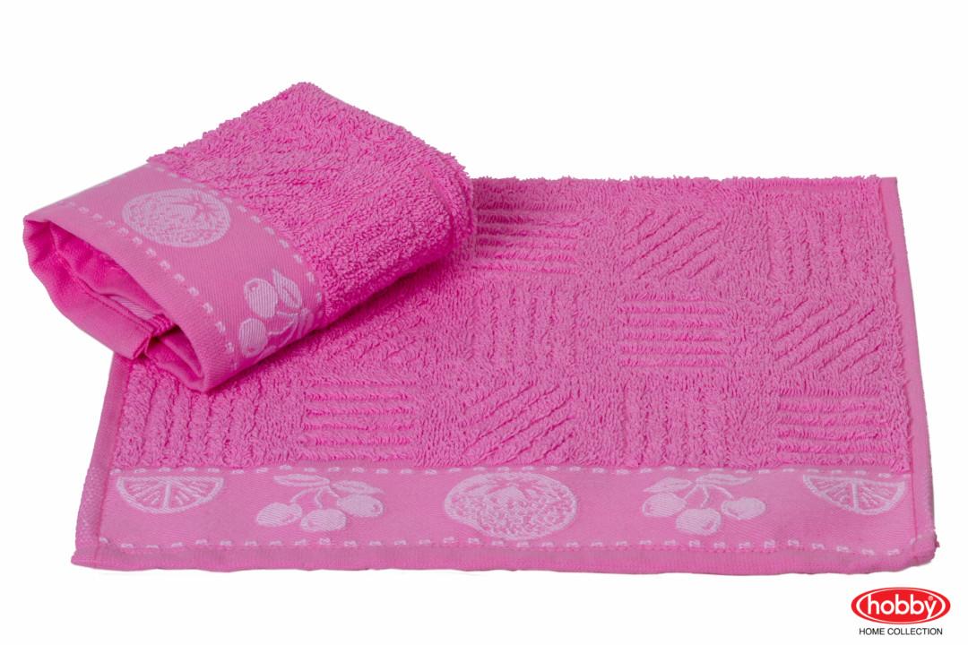 Махровое полотенце 30x30 MEYVE BAHCESI розовый 100% Хлопок