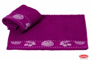 Махровое полотенце 30x30 MEYVE BAHCESI фиолетовый 100% Хлопок