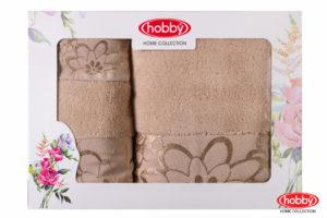 Махровое полотенце в коробке 30x50+50x90+70x140 DORA бежевый 100% Хлопок