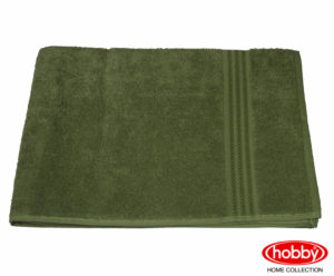 Махровое полотенце 70x140 RAINBOW оливковый 100% Хлопок