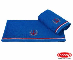 Махровое полотенце с вышивкой 50x90 MARITIM синий 100% Хлопок