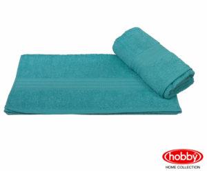 Махровое полотенце 70x140 RAINBOW т.бирюзовый 100% Хлопок